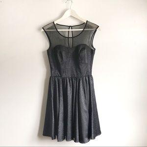 Guess Black Wild Spots print Mini Flare Dress